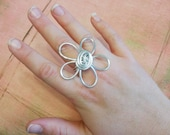Daisy Days Chunky Flower Ring - Large