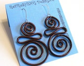Squished S - Wire Earrings -  Customize your Color