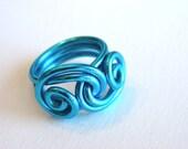Wire Ocean Waves Ring Custom Made