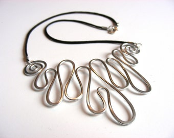 MELTED - Hammered Necklace - Choose Your Own Color