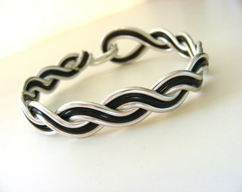 Custom Braided Wave Wire Bracelet - Choose Your Own Colors