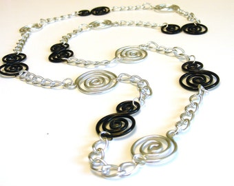 Swirly Chain Necklace - Choose Your Own Colors