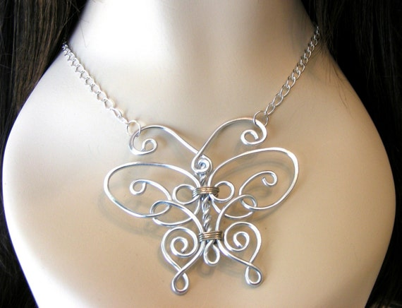 Regal Butterfly Necklace