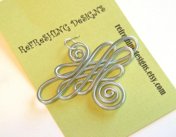 Celtic Renaissance Wire Work Pendant - Choose your own Color and Size