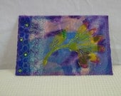 Quilted Art Postcard