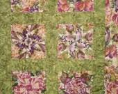 4 Patch Floral Wallhanging Lap Quilt
