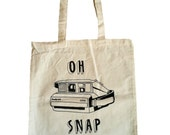 Oh Snap Tote Bag - White