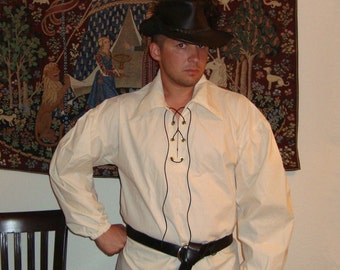 Renaissance Shirt - Men's Clothing For Medieval, Pirate and Steampunk Costumes, Custom Size AND Color