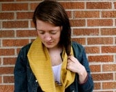 Spring Summer Mustard Yellow Cotton Scarf