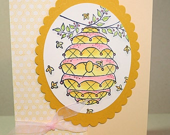 Enjoy The Little Things - Beehive - Greeting Card