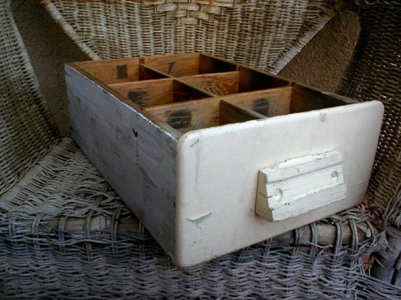 Wood Drawer Vintage Chippy Paint