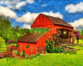 Barn House - 14 X 11 - Fine Art Print