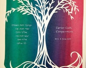 Child Hebrew Blessing - papercut artwork - RESERVED for Janis