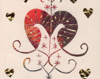 10 Cards - Haiti Relief - Erzulie - Voodoo Goddess of Love and Help -  4.25 x 5.5 inches - A2 size