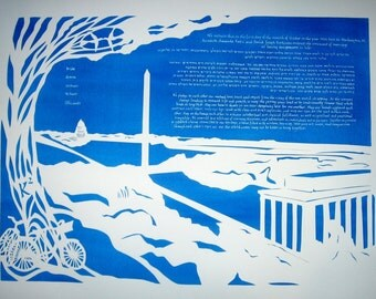 Papercut Text Ketubah All Hand Cut Word By Word By Jerise