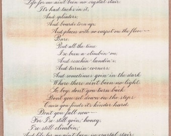 Poetry Elements Of Langston Hughes Mother To Son | Auto ...