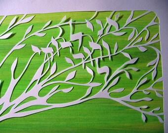 Handcut Papercut Artwork - poem - e. e. cummings poem - papercut - i carry your heart - THIS DESIGN
