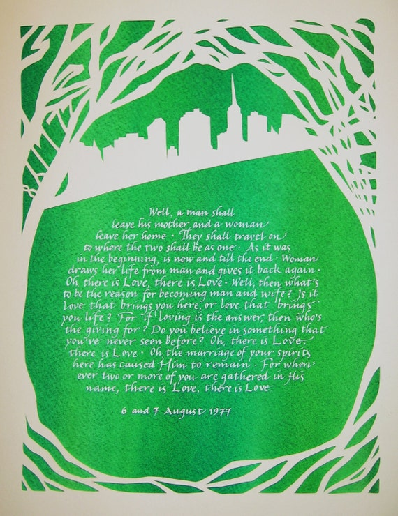 Two Small Birches Papercut Gifts for Parents, Grandparents, Groomsmen, Bridesmaids, Friends and Relatives