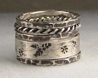 Sterling Silver Stacking Rings Made to order Free US Shipping