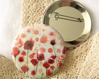 Badge - Poppies Field