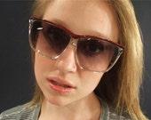 Vintage Womens 70's Retro Big Sunglasses