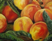 Reserved for hisole   Peaches   Original Oil Painting