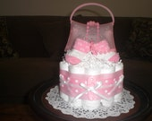 Born to Shop Baby Shower Diaper Cake Centerpieces other colors, toppers and sizes too