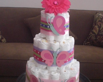 Butterfly Diaper Cake Shower different styles available other colors too