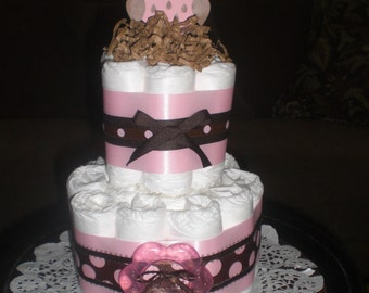 Owl Diaper Cake Woodland Baby Shower three styles available  IT IS A HOOT other colors too