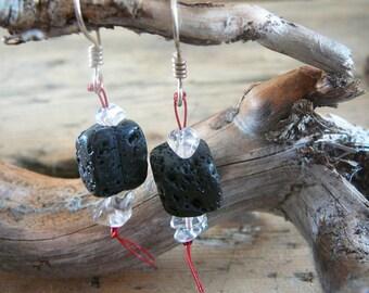 Lava Crystal Earrings