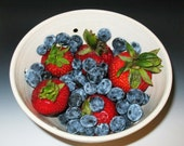 Fireworks- Summertime Berry Bowl Ceramic Collander