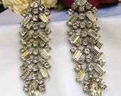 RESERVED FOR CLAIRE -- Vintage Rhinestone Chandelier EarringS -- RESERVED FOR CLAIRE