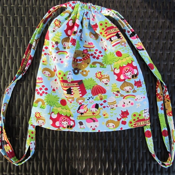 Child's drawstring backpack: Kawaii Desserts