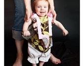 Girl's Pillowcase Dress and Matching Hair Clip Amy Butler Lotus Lacework