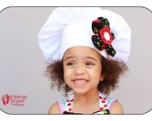Children's Chef Hat Cherry and Red Polka Dot Fabric