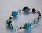 Blue and Black Hawaiin Bracelet