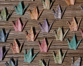 24 or 48 Japanese Chiyogami Print Origami Paper Cranes