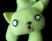 Zombie Kitten Plush - Cute Small Undead Stuffed Animal (made to order)