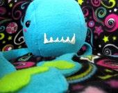 Plush Monster - Stuffed Tentacle Blue Alien Octopus Squid Toy