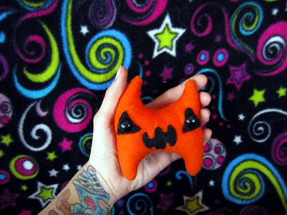 Pumpkin - Jack O Lantern Mini Plush Monster Stuffed Cute Halloween Toy