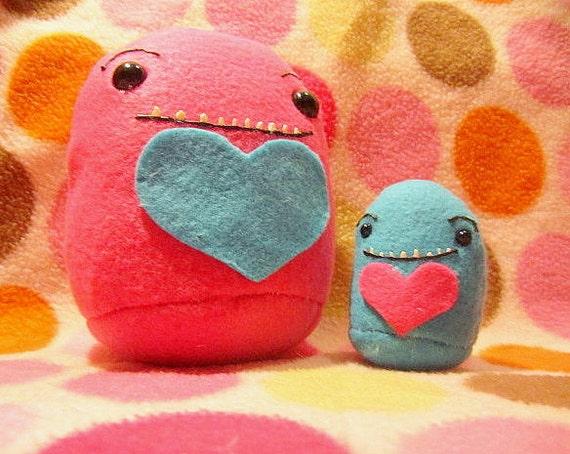 Mama and Baby Plush Monster Set