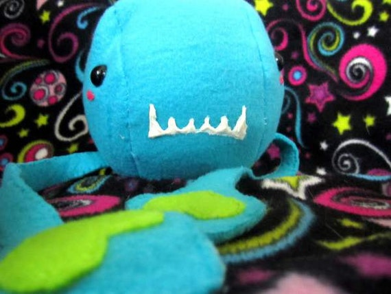 Plush Monster - Stuffed Tentacle Blue Alien Octopus Squid Toy