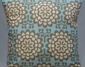 NEW Cushion Cover 16 inch Handmade SKY BLUE Wallflower Pillow Cover, Throw Pillow