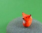 Little Orange Fox - Hand Sculpted - MadeWithClayAndLove
