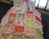 Doll Quilt Lovey Rag Quilt American Girl Doll Sandi Henderson fabrics