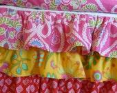 3 or 4  Tiered Ruffle Crib Skirt  Custom Design Your Own Crib Bedding