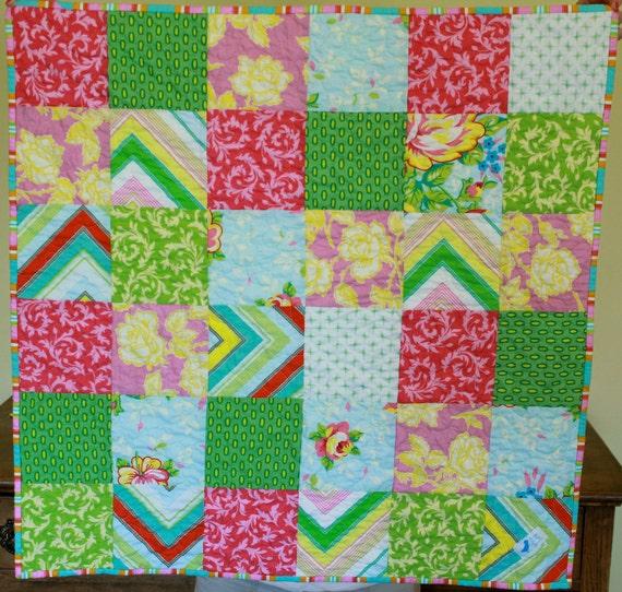 SALE  Pop Garden Patchwork Quilt Heather Bailey Fabrics