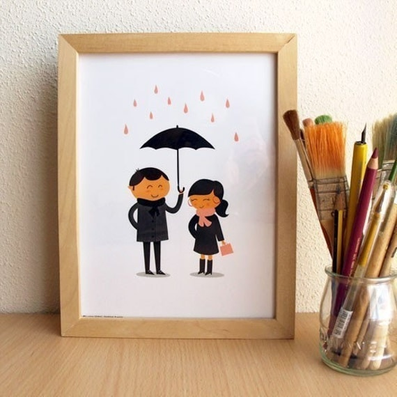 Print - Lovely rain