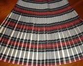 Vintage Pleated Pure Wool Plaid Tartan Kilt