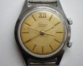 USSR 1-MChZ watch SIGNAL alarm vibro 18j wt white dial